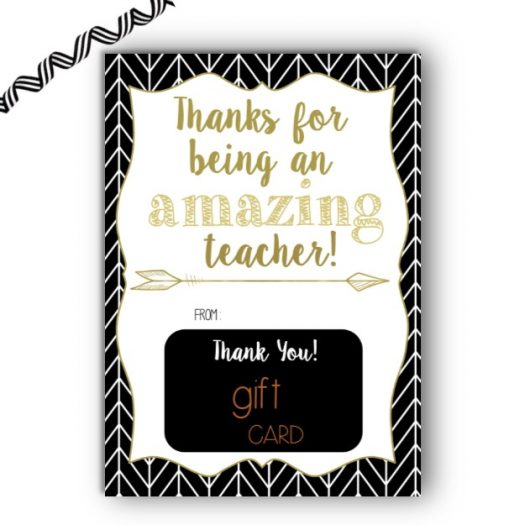 Amazon Teacher Appreciation Gift Card Holder