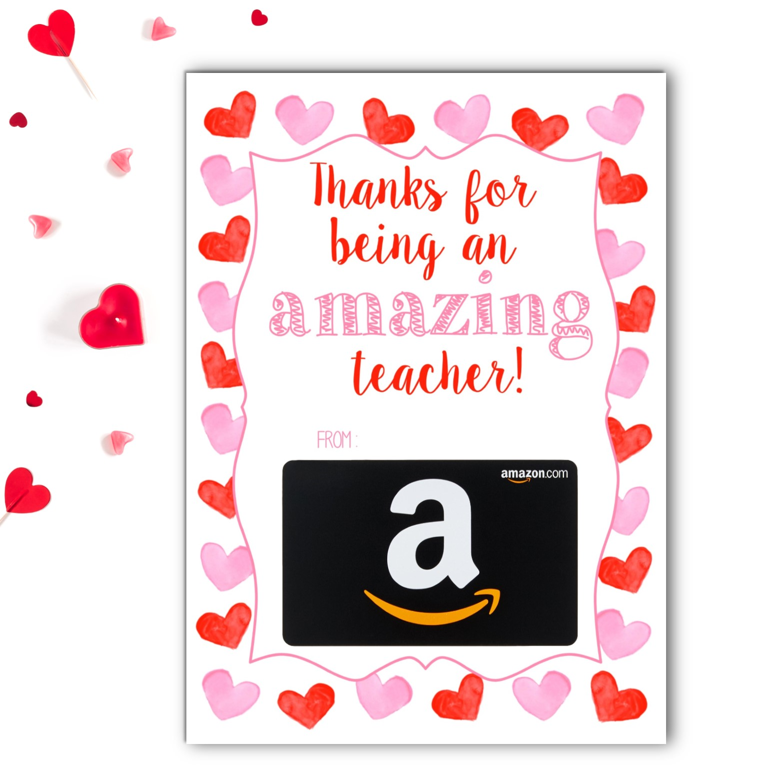 Amazon Teacher Valentine's Gift Card Holder   Rose Paper Press