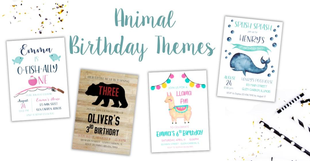 Animal Birthday Invitations