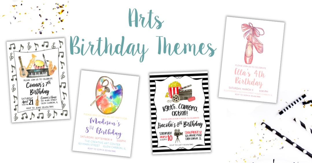 Creative Arts Birthday Ideas