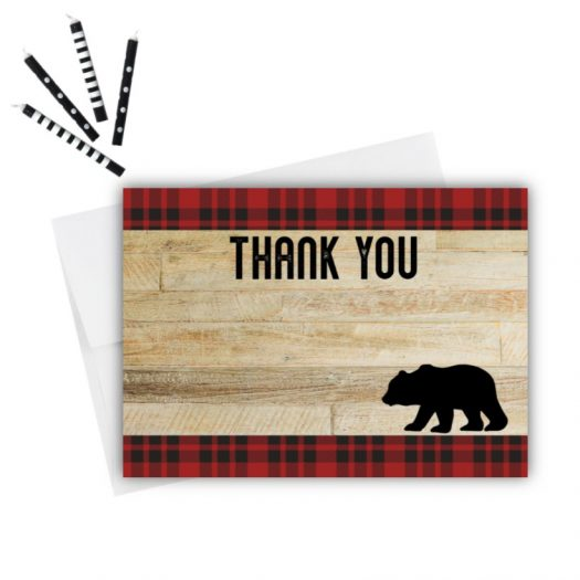 Bear Thank You Card