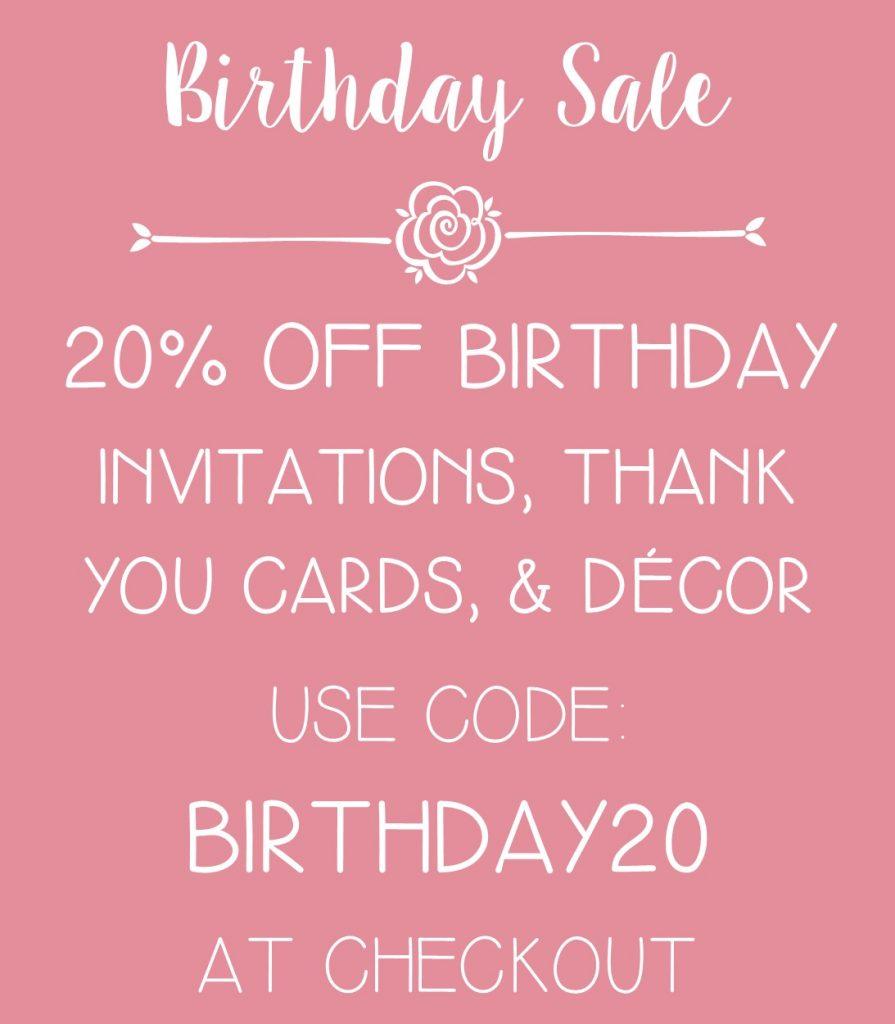 Birthday Invitation Sale