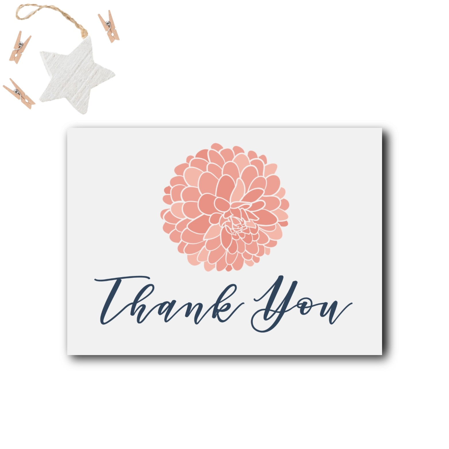 Navy And Blush Baby Shower Thank You Cards Rose Paper Press