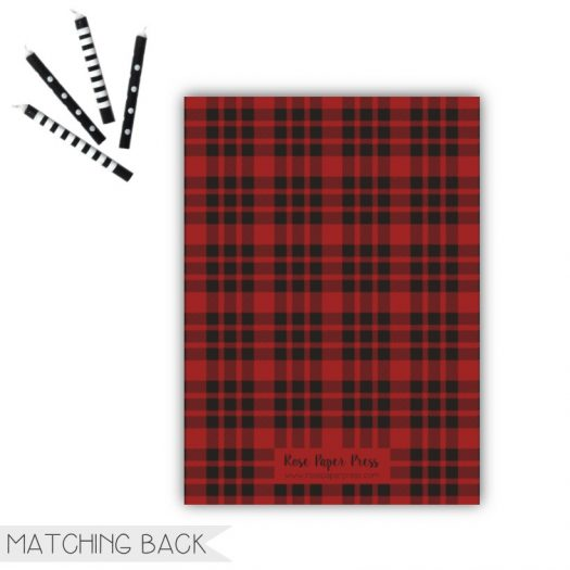 Buffalo Plaid Birthday Invitation Back