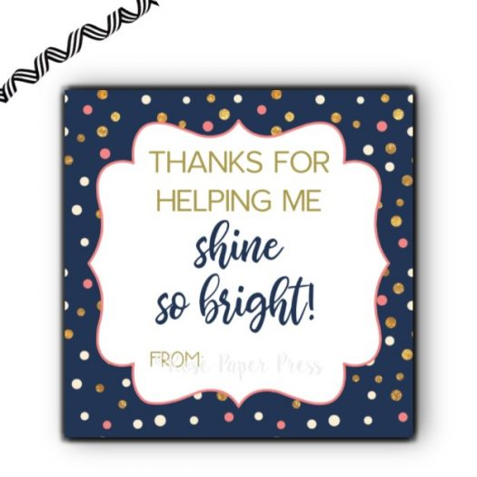 Candle Polka Dot Gift Tag