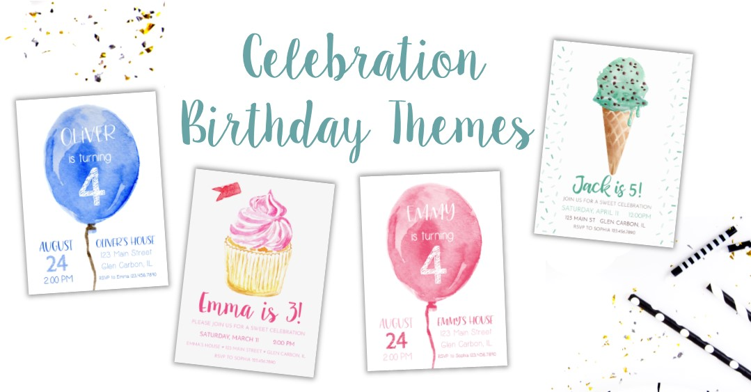 Classic Birthday Party Invitations and Themes