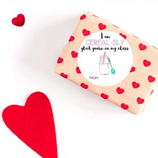 Cereal Valentines Stickers