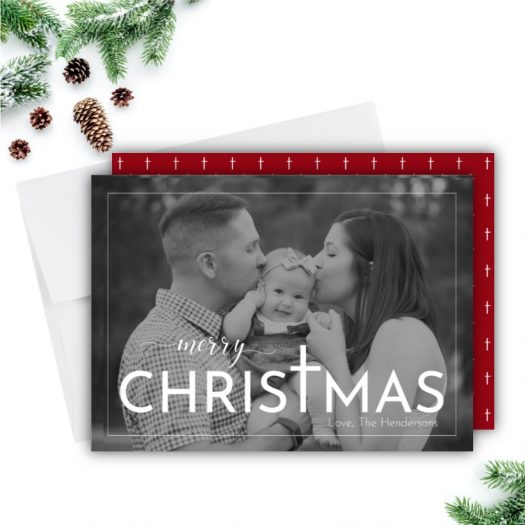 Christ Christmas Photo Card