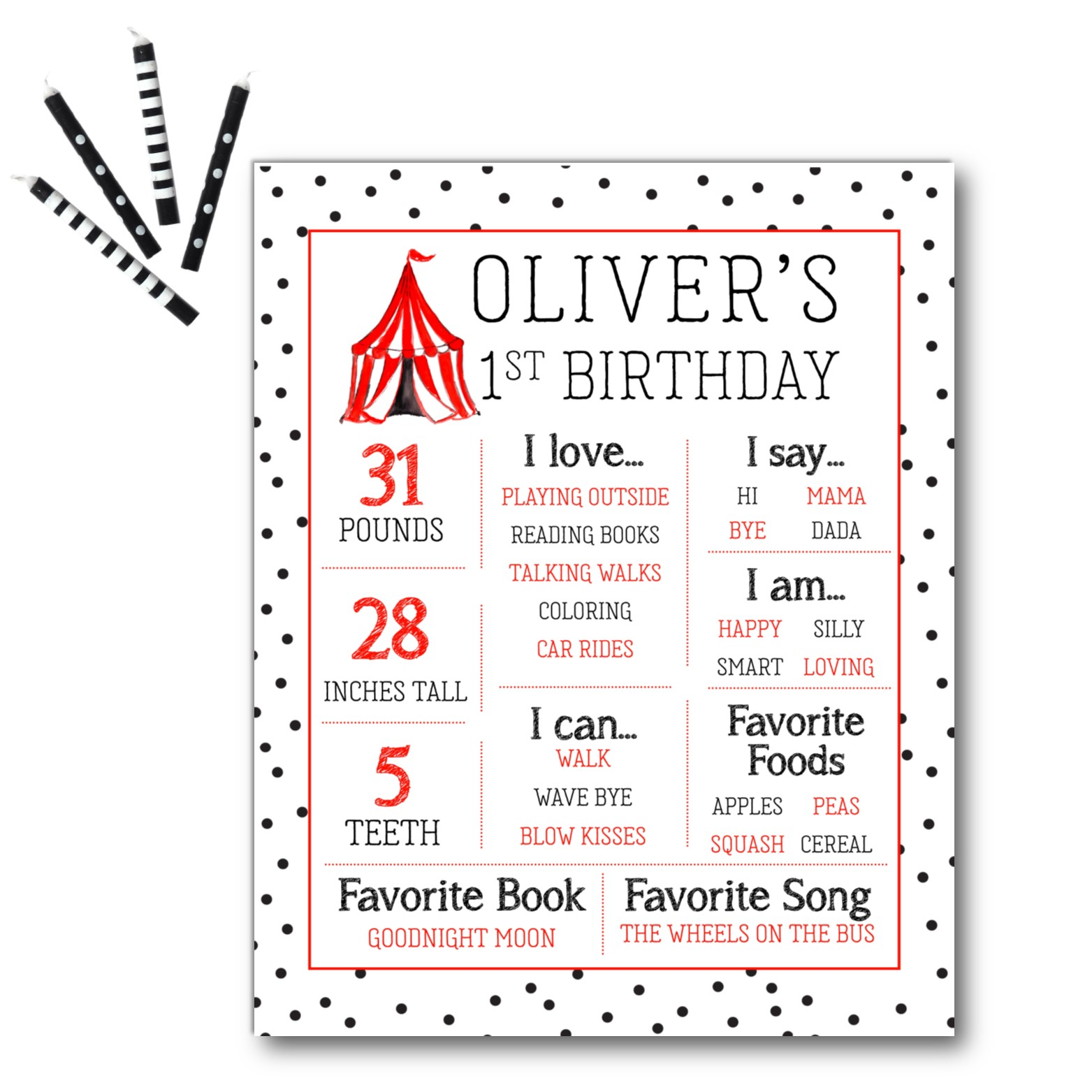 Circus Party Pack | Birthday Invitations, Holiday Cards, Moving ...