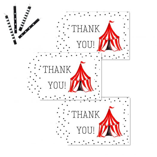 Circus Favor Thank You Tags