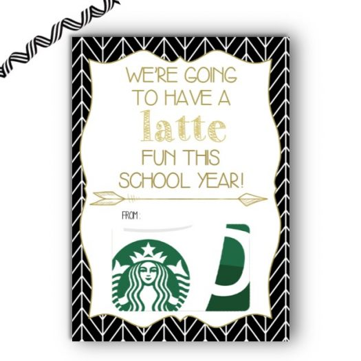 Coffee Back to School Gift Card Holder