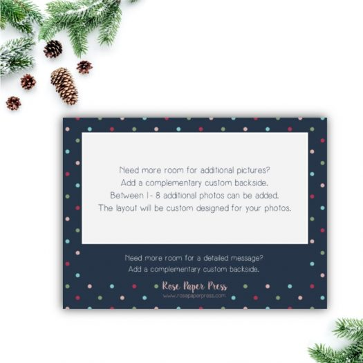 Colorful Dots Holiday Card Back Upgrade