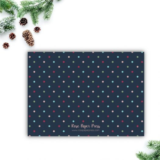 Colorful Polka Dots Christmas Card