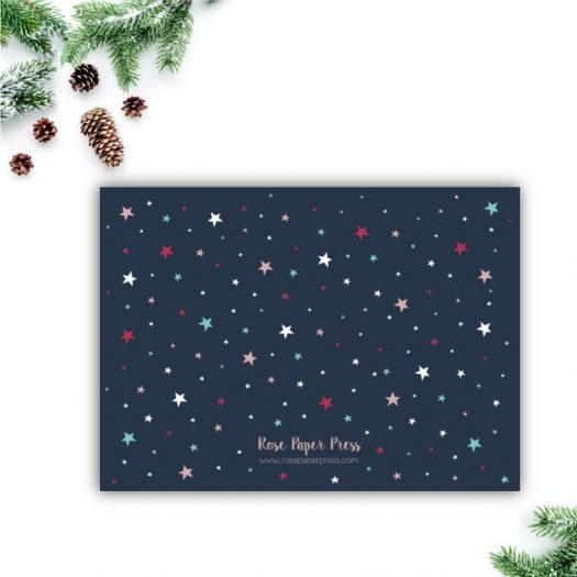 Colorful Stars Christmas Card