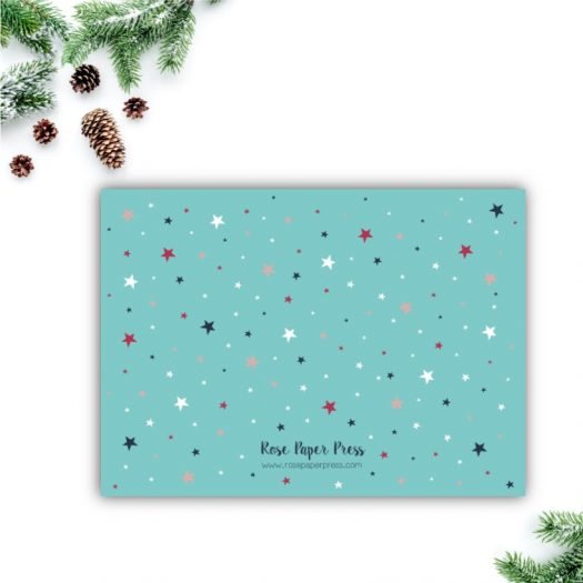Colorful Stars Holiday Card