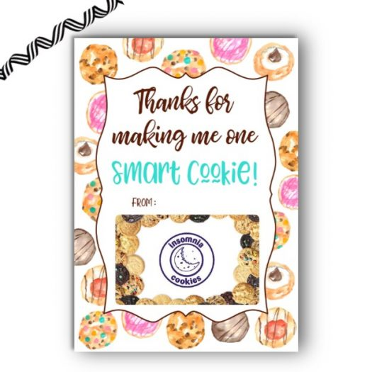 Cookie Teacher Gift Card Holder