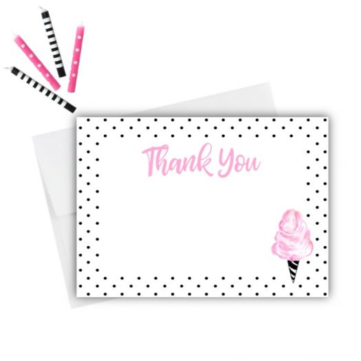 Cotton Candy Thank You Card