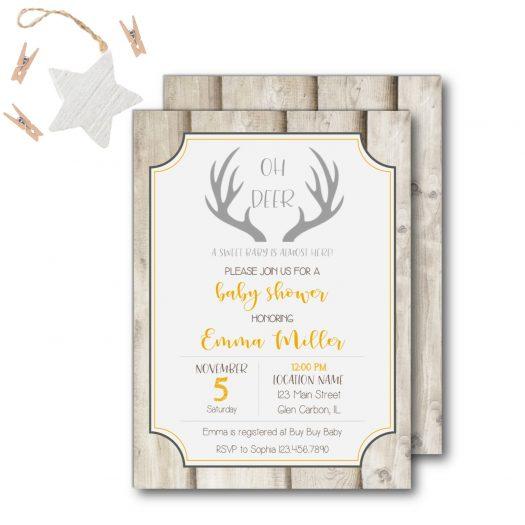 Oh Deer Baby Shower Invitation