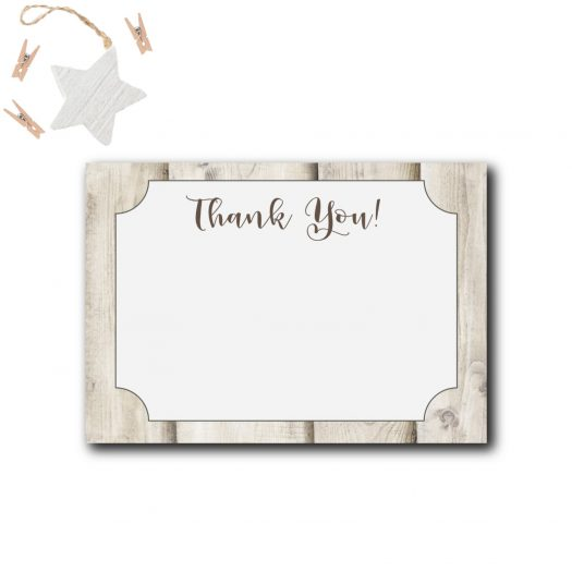 Deer Baby Shower Thank You Card