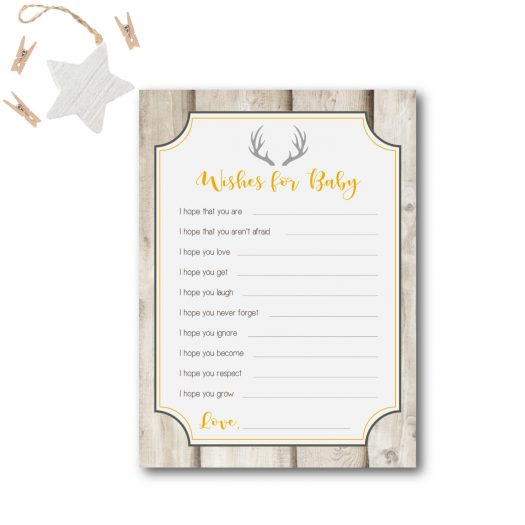 Deer Wishes for Baby Card
