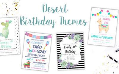 Desert Birthday Party Ideas