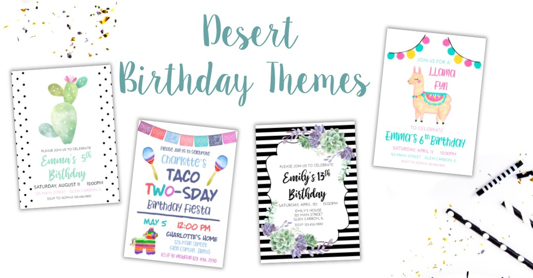 Desert Birthday Party Ideas