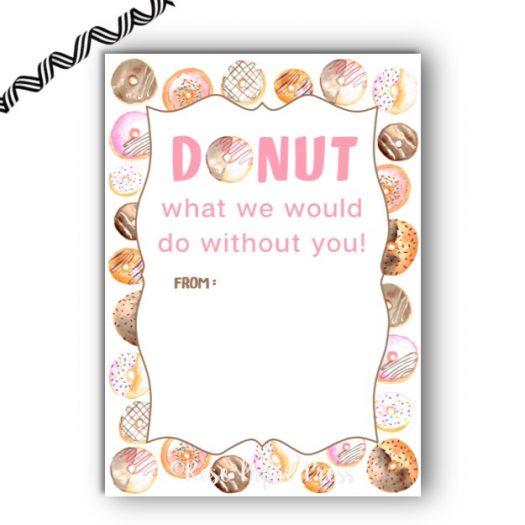 Donut Gift Card Holder
