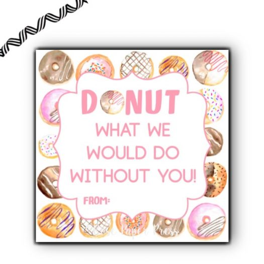 Donut Gift Tag