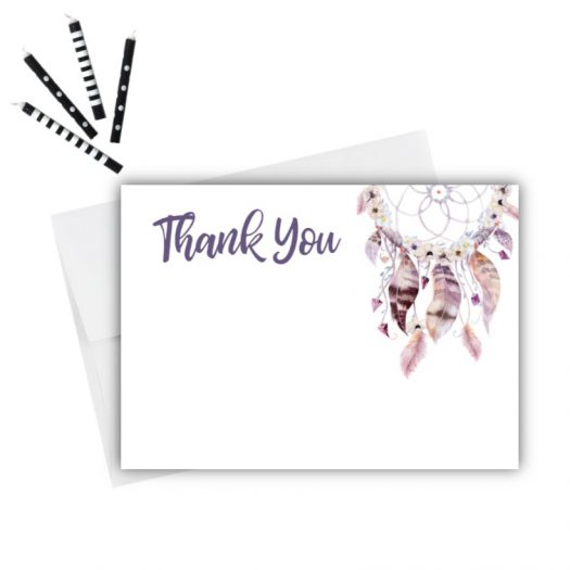 Dream Catcher Thank You Card