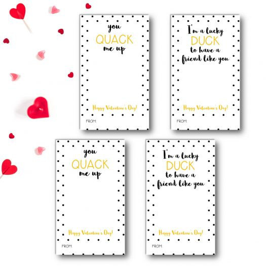 Ducky Kids School Valentines Cards