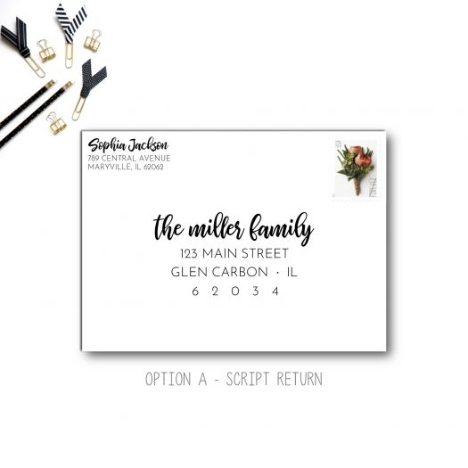 return address envelope printing