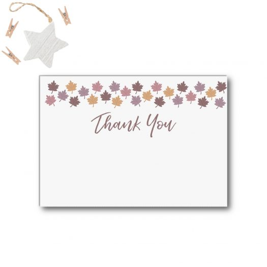 Fall Baby Shower Thank You Card