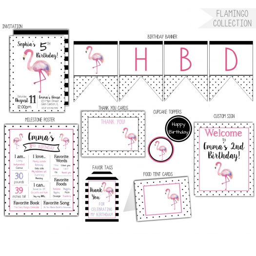 Flamingo Birthday Party Pack