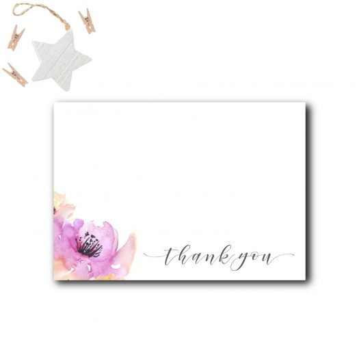 Floral Baby Shower Thank You Card