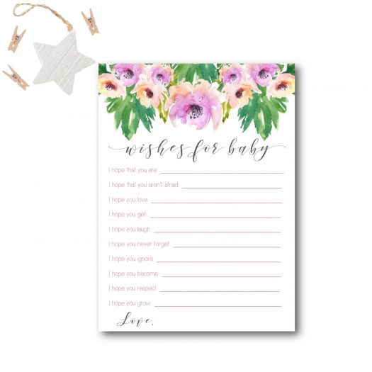 Floral Wishes for Baby Card