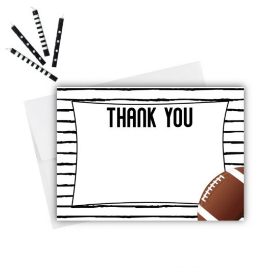 Football Thank You Card