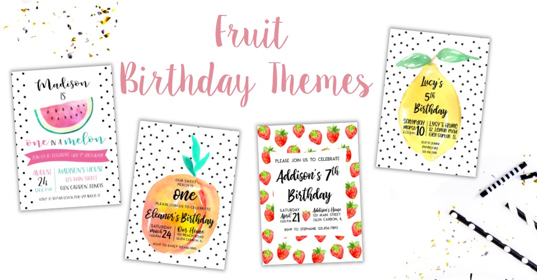 Fruit Birthday Invitations