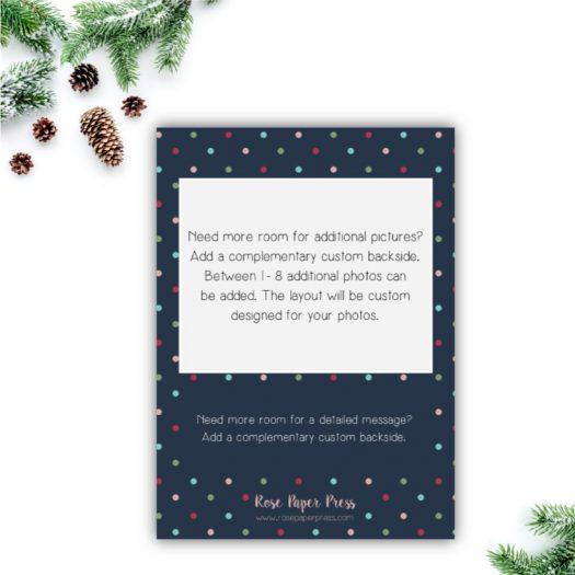 Fun Dots Holiday Card Back Upgrade