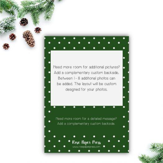 Green Dots Christmas Card Back Upgrade