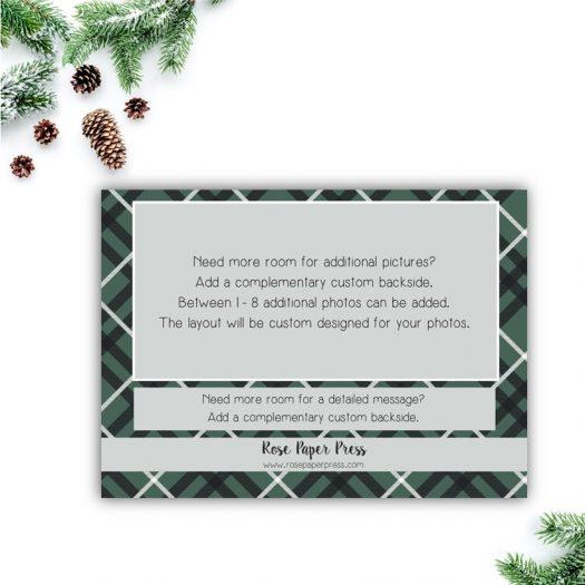 Green Plaid Holiday Card Back