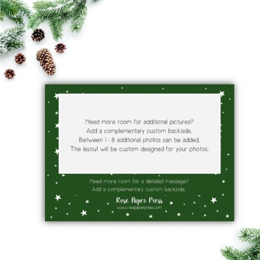 Green Stars Holiday Card Back Upgrade