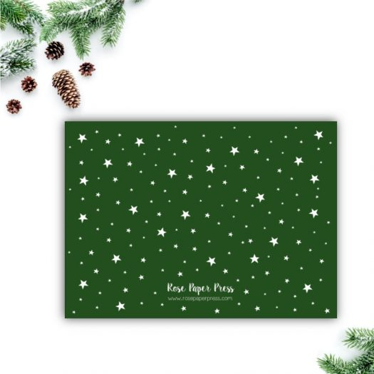 Green Stars Holiday Card