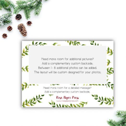 Greenery Holiday Card Back Upgrade