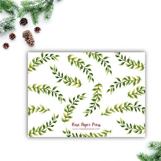 Greenery Holiday Card