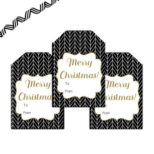 Herringbone Christmas Gift Tags