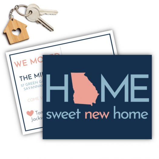 Home Sweet New Home Moving Postcard