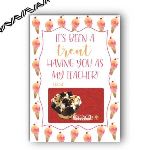 Ice Cream End of School Gift Card Holder