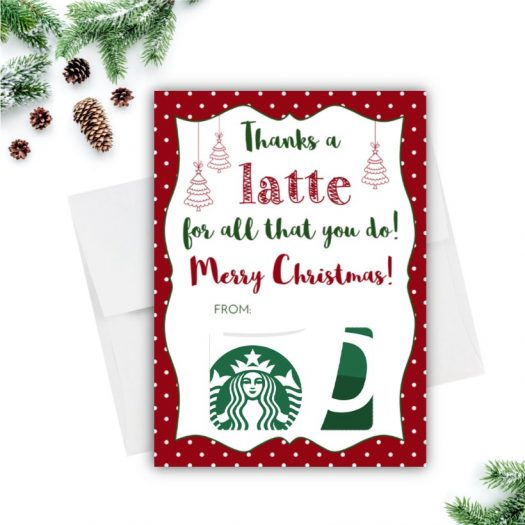 Latte Christmas Gift Card Holder