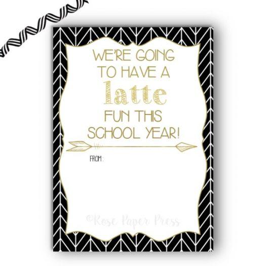 Latte Back to School Gift Card Holder