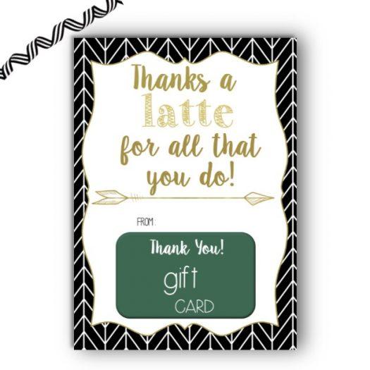 Latte Herringbone Gift Card Holder